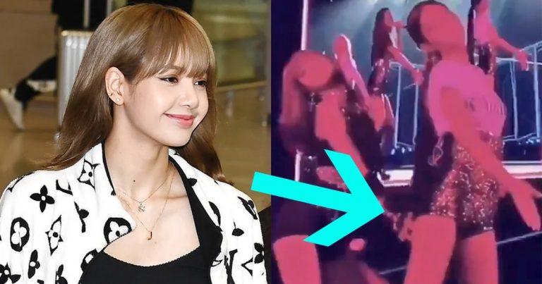 Lisa de BLACKPINK se divirtió tocando el trasero de Jennie