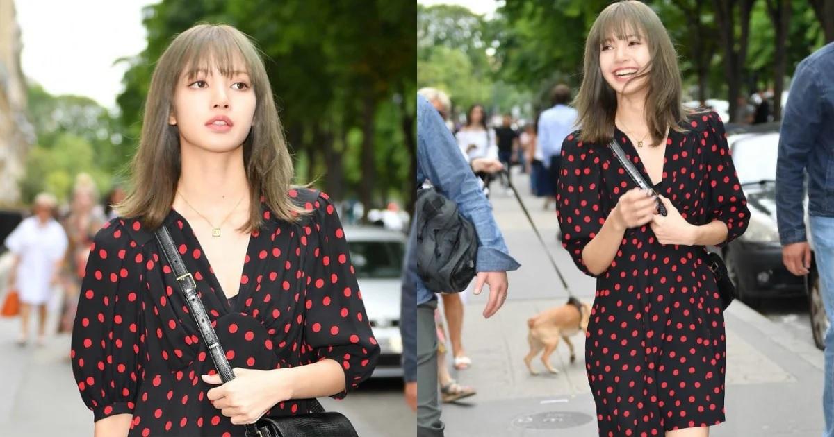 Lisa de BLACKPINK es vista caminando por las calles de París durante la Semana de la Moda de París